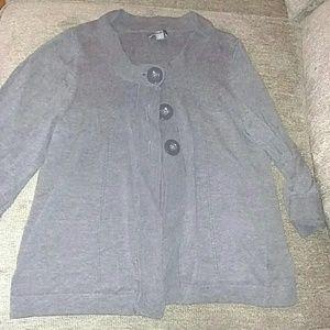 Apt 9 grey cardigan